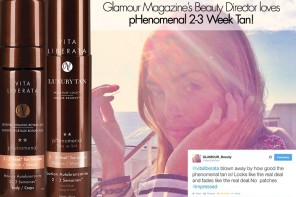 Glamour Magazine's Beauty Director loves pHenomenal 2-3 Week Tan!