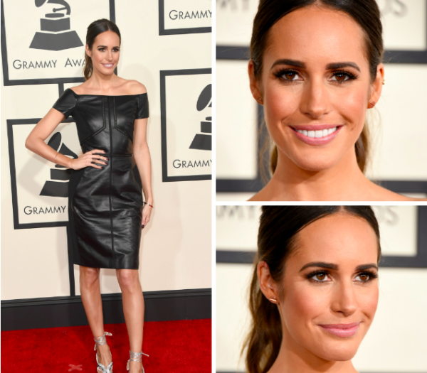 Louise Roe GRAMMY Awards Tan Vita Liberata 2015. GETTY IMAGES